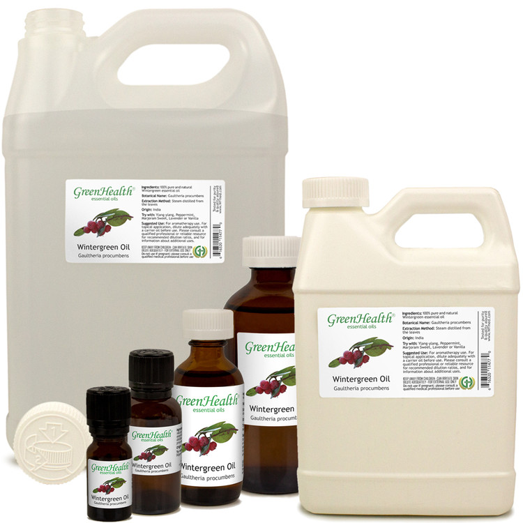 Wintergreen Essential Oil (with child resistant cap)