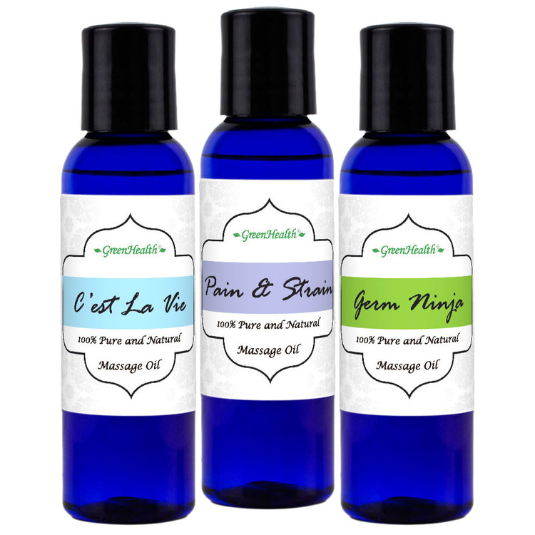 Massage Oil Sampler Set (2 fl oz)