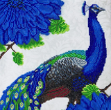 Completed Craft Buddy Flowering Peacock crystal art kit