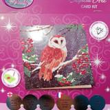 Barn Owl Crystal Art Card Kit