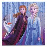 Image of Elsa Anna and Olaf Crystal Art