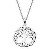 Heritage Sterling Silver Cinna Weaved Tree of Life Pendant Necklace
