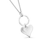 Silver Origins Cornish Heart Pendant Necklace