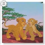 Disney Simba & Nala Crystal Art Card Kit