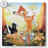 Disney Crystal Art Bambi & Friends Crystal Art Card Kit