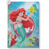 Craft Buddy Disney Little Mermaid Crystal Art Notebook Kit