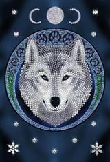 Craft Buddy Anne Stokes Lunar Wolf Crystal Art Notebook