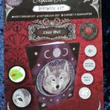 Lunar Wolf Crystal Art Notebook