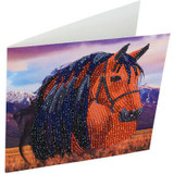 3D Image of Horse Crystal Art Card