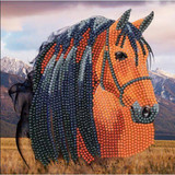 Image of Horse Crystal Art Card