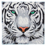 Image of Craft Buddy White Tiger crystal art kit design