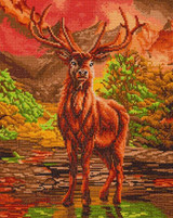 Image of completed River Stag Crystal Art Kit