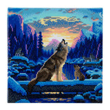 Image of Craft Buddy Howling Wolves crystal art kit