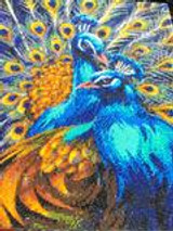 Craft Buddy Blue Rhapsody Peacocks Crystal  Art  kit