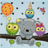 Image of Craft Buddy Birthday Friends crystal art card kit design