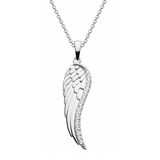 Image of Dew Sterling Silver CZ Wing Pendant necklace