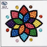 Image of completed Craft Buddy colourful Mandala sticker motif