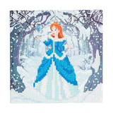 Image of completed Craft Buddy Enchanted Princess Crystal Art card