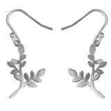 Image of Blueberry Sterling Silver Leafy Branch Earrings