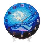 Image of Craft Buddy Watery Moon dolphin crystal art clock kit design