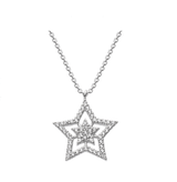Image of Dew Sterling Silver Twinkling Star CZ Pendant Necklace