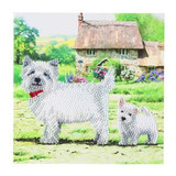 Image of completed Craft Buddy Westies Crystal Art card