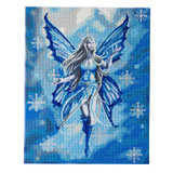 Image of Craft Buddy Anne Stokes Licensed Snow Fairy crystal art kit design