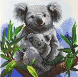 Image of completed Craft Buddy Koalas crystal art kit design