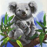 Image of completed Craft Buddy Koalas crystal art kit design