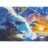 Image of Craft Buddy Dolphin Waves Crystal Art kit design