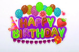 Image of completed Craft Buddy Happy Birthday sticker motif