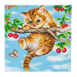 Image of Craft Buddy Cherry Kitten crystal art kit design