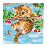 Image of Craft Buddy Cherry Kitten crystal art kit design