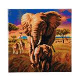 Image of Craft Buddy Elephants of the Savannah crystal art kit design