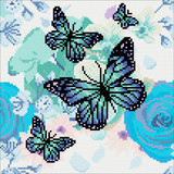 Image of Orchids & Butterflies Crystal Art