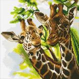 Image of Friendly Giraffes Crystal Art