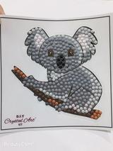 Completed Craft Buddy Koala crystal art motif design