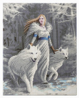 Image of Craft Buddy Anne Stokes Licensed Winter Guardians crystal art kit design