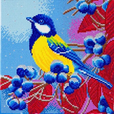 Image of Christmas Bird Crystal Art