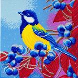 Image of Christmas Bird Crystal Art