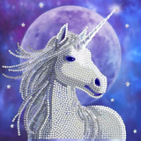 Completed Craft Buddy Starlight Unicorn crystal art card design
