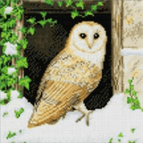 Completed Craft Buddy Snowy Owl Crystal Art Kit