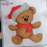 Christmas Teddy Crystal Art Motif Kit