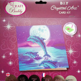 Craft Buddy Moonlight Dolphins Crystal Art Card Kit Packaging