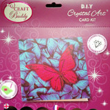 Craft Buddy Butterfly Crystal Art Card Kit Packaging