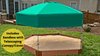 "7' x 8' x 5.5"" Composite Hexagon Sandbox Kit with Telescoping Canopy/Cover - 1"" profile"