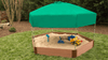 "7' x 8' x 5.5"" Composite Hexagon Sandbox Kit with Telescoping Canopy/Cover - 1"" profile 1"
