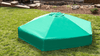 "7' x 8' x 5.5"" Composite Hexagon Sandbox Kit with Telescoping Canopy/Cover - 1"" profile 2"