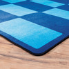 Checker Blue - Rectangle Large Rug 1