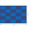 Checker Blue - Rectangle Large Rug 4